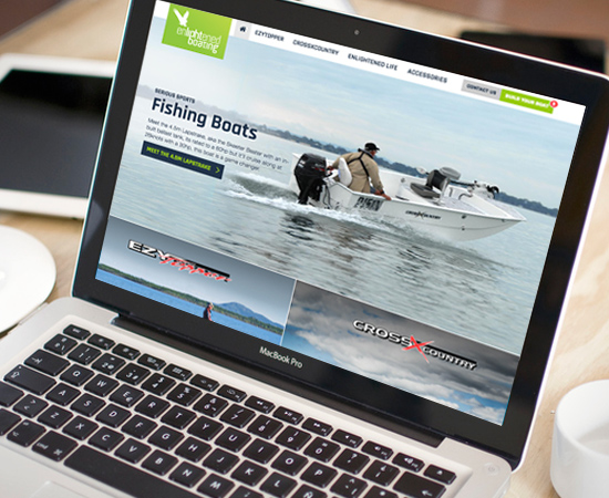 Enlightened Boating website design